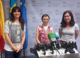Las concejalas de Podemos-Equo Xixón, en rueda de prensa