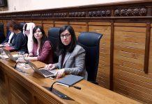 Laura Tuero y Alba González Sanz en el pleno