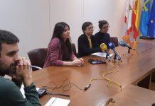 Las concejalas de Podemos-Equo Xixón en rueda de prensa