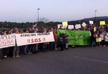 Protesta vecinal de Nuevo Roces y La Camocha