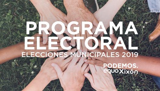 Programa electoral. Elecciones municipales 2019. Podemos. Equo. Xixón