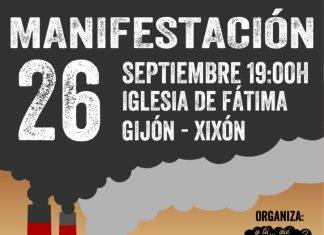 Comunicado de apoyo a la manifestación contra la contaminación