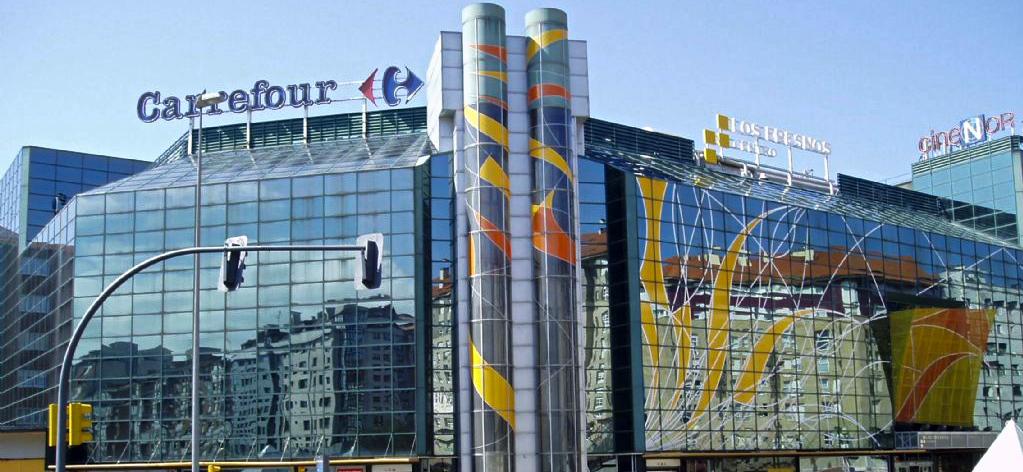 Edificio del centro comercial de Los Fresnos
