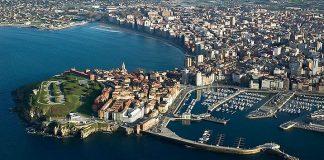 Vista aérea de Gijón