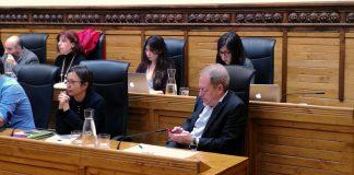 Las concejalas de Podemos-Equo Xixón en el pleno