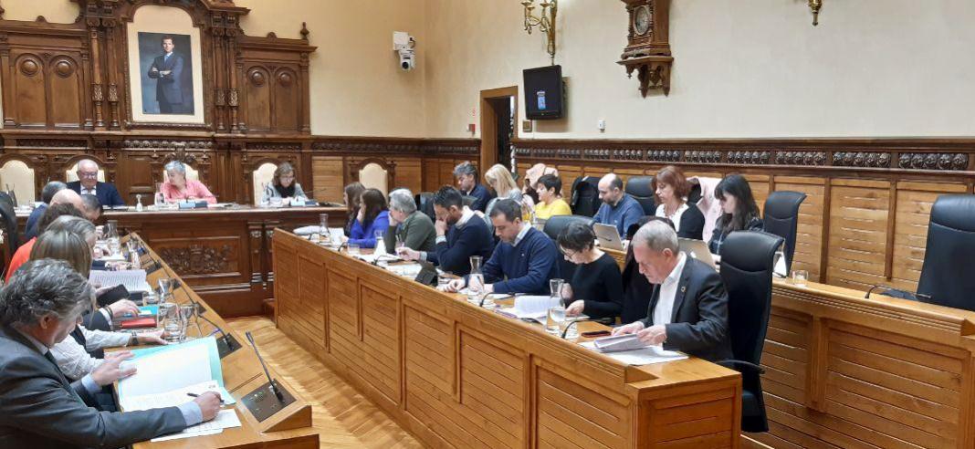 El pleno del Ayuntamiento de Xixón