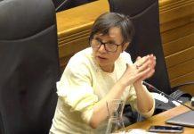 Yolanda Huergo en el pleno de mayo