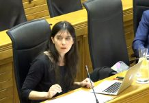 Laura Tuero en el Pleno