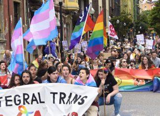 Una manifestación del Orgullo en Asturies