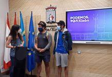 Laura Tuero, Rubén Álvarez y Ángel Ferrera, en la rueda de prensa sobre Salvamento