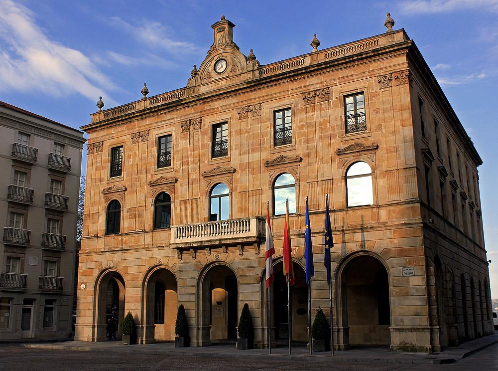 Fachada Ayuntamiento Xixón