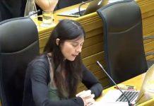 Laura Tuero en el Pleno de agosto