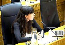 Laura Tuero en el pleno de septiembre de 2020