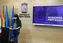 Laura Tuero en rueda de prensa