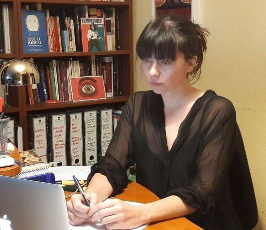 Laura Tuero durante el debate del estado del municipio
