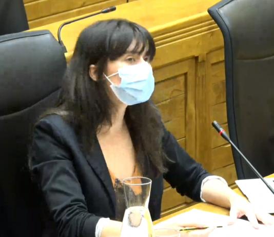 Laura Tuero durante el pleno de diciembre de 2020