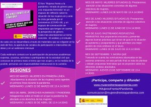 Mujeres frente a la Pandemia. @ On line